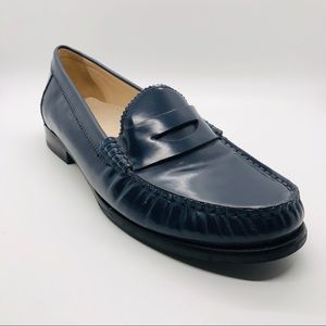 Cole Haan Navy Leather Penny Loafer NWOT 7.5